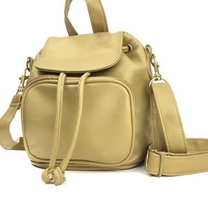 Vintage Mini Backpack Convertible Crossbody